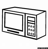 Microwave Oven Coloring Pages Template Sketch Thecolor sketch template