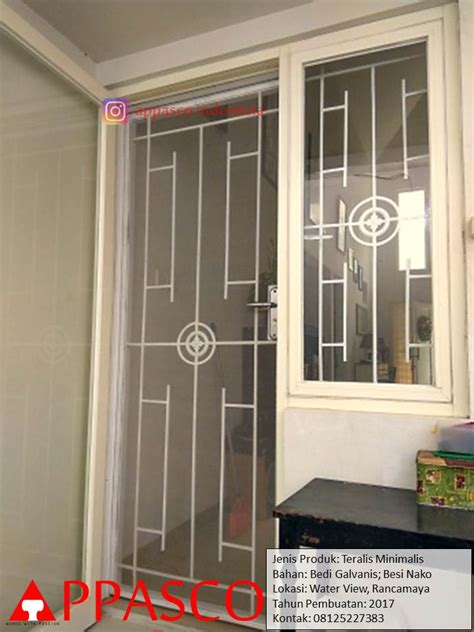 pintu teralis besi minimalis  meningkatkan keamanan