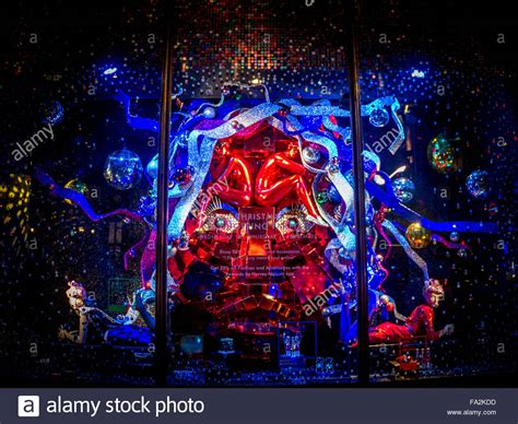 harvey nichols store in knightsbridge is lit up with