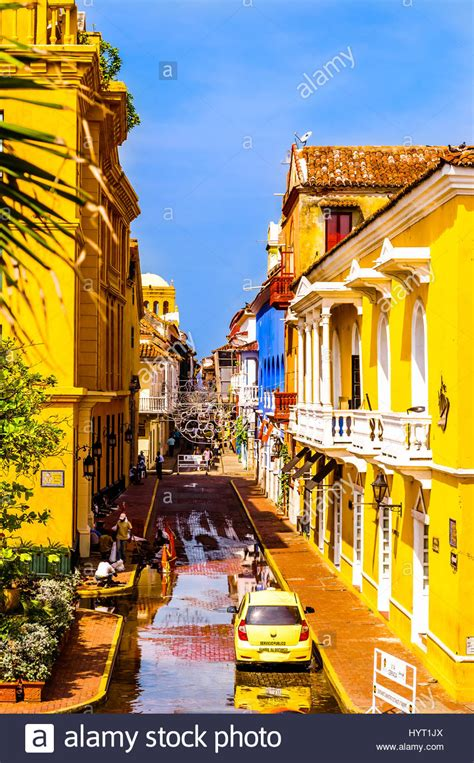 Colorful Colonial by Of Colorful Colonial Buildings In Cartagena