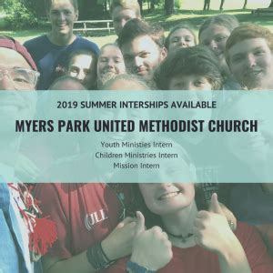 Summer Internships In Children's And Youth Ministry