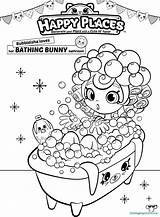 Shopkins Coloring Shoppies Pages Shopkin Places Happy Bath Bubbleisha Printable Sheets Colouring Shoppie Print Dolls Cute Printables Doll Para Colorear sketch template