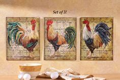 Tall Rustic Metal Art Rooster Vintage Style Chicken