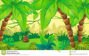 Jungle Background With Palm Stock Vector - Illustration of ...