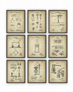 Drugstore Patent Prints Set of 9 - History Of Medicine