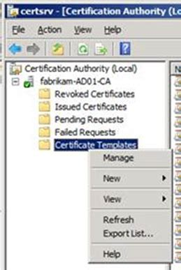 create  certificate   pxe service point