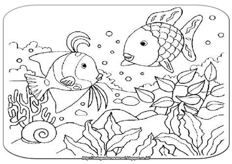 Menampilkan cara bagi anak untuk menggambar dan mewarnai dengan krayon pemandangan laut indonesia saat senja dengan. Gambar Mewarnai: Gambar Mewarnai Pemandangan Bawah Laut