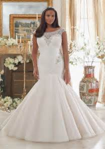 plus size bridesmaids dresses dazzling beaded embroidery on tulle plus size wedding dress morilee