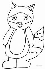 Coloring Raccoon Pages Cool2bkids Printable sketch template
