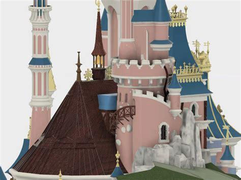 maquette du chateau de la belle au bois dormant de