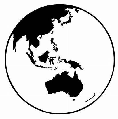 Globe Earth Oceania Clip Clipart Svg Vector