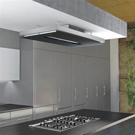 hotte de cuisine plafond airforce gemma verre hotte plafond pour la cuisine