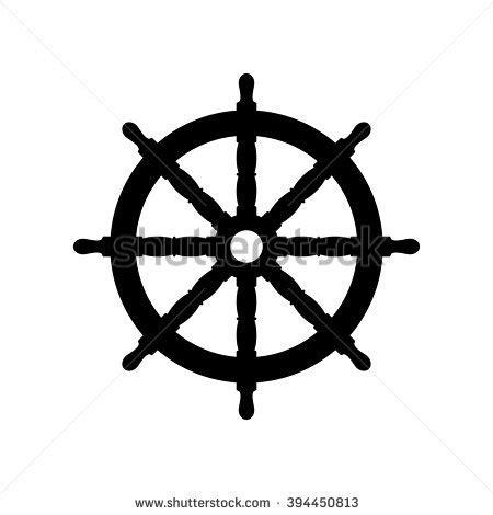 Boat Steering Wheel Silhouette by Steering Wheel Stock Vector 194533370