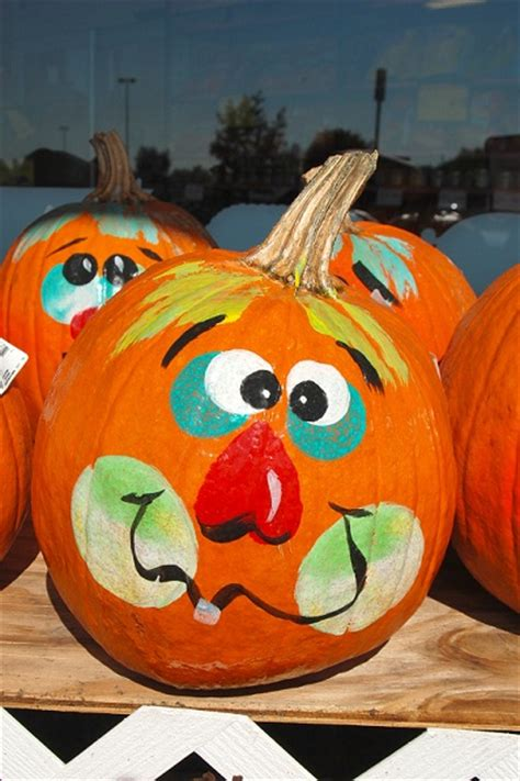 decorated pumpkins funny pumpkin painted design ideas crafts and arts ideas