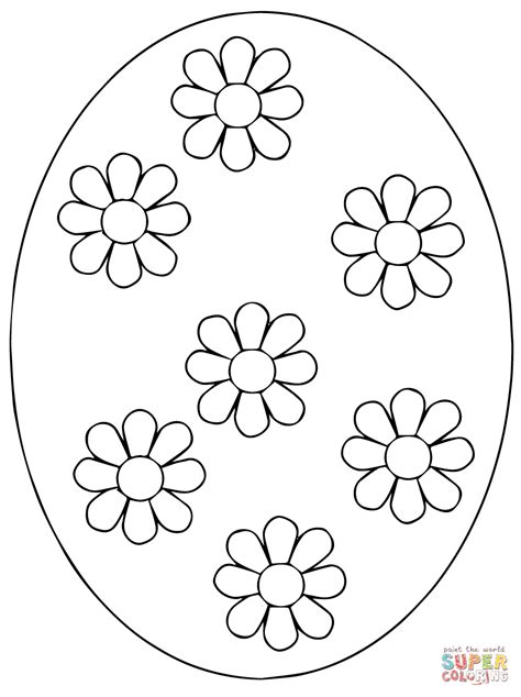 ukrainian easter egg coloring page  printable