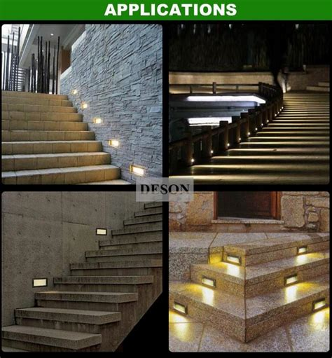 dhl 3w ip65 led stair step light recessed wall l