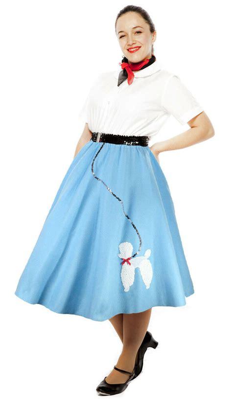 felt sock hop poodle circle skirt sz adult medium