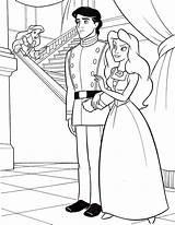 Disney Ariel Coloring Princess Prince Eric Walt Vanessa Characters Fanpop sketch template