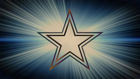 dallas cowboys logo  blue  white rays background hd