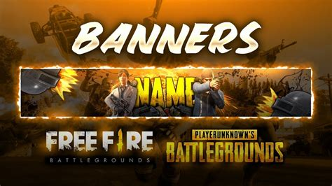 Free fire is a mobile survival game that is loved by many gamers and streamed on youtube. COMO HACER BANNERS DE FREE FIRE O PUBG  PS TOUCH  ANDROID ...