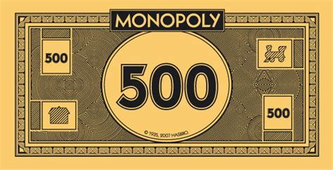 monopoly money template 500 dollar bill template