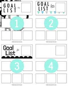 Free Printable Goals List