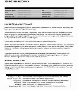 360 degree feedback employee performance evaluation form for 360 performance evaluation template