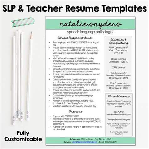 Slp Resume Cover Letter by 111 Best Images About Slp Grad School On