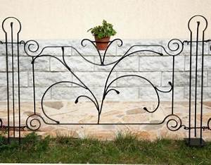 Designer Gartenzaun QuotDekorquot Zaunelement 90cm Zaun Metall