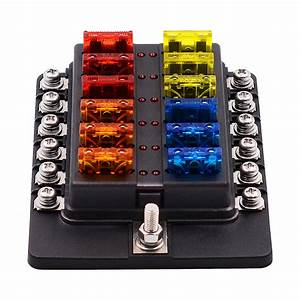 1 In 12 Out Fuse Box Screw Terminal Section Fuse Holder