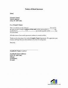 best photos of rent raise template sample rent increase With free rent increase form letter