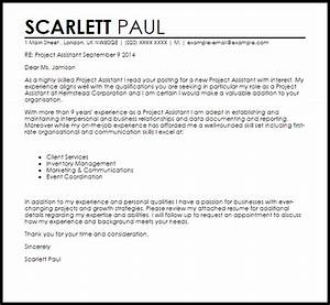 Project assistant cover letter sample livecareer for Cover letter for project assistant position
