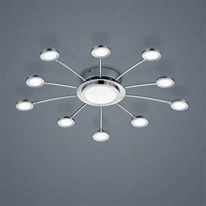 Dimmbare Led Deckenlampe : edle led deckenlampe mit 10 led strahlern in sonnenform ~ Frokenaadalensverden.com Haus und Dekorationen