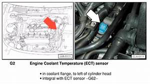 2004 Audi A4 Coolant Temperature Sensor Location