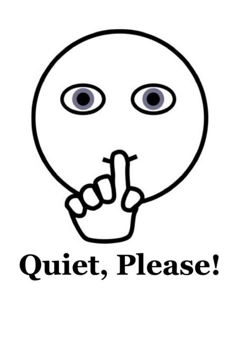 quiet  sign printable