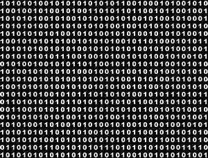 Binary code in black and white | Stock Photo | Colourbox
