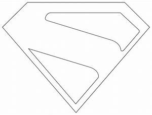Superman Logo Outline