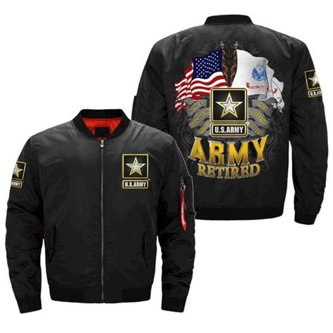 us army retired over print jacket familyloves