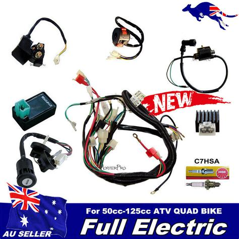 Wiring Harnes Hook Up by Electrics Wiring Harness Cdi Coil 110cc 125cc Atv