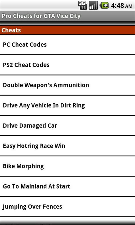 gta vice city cheats android unoffical cheats gta vice city android apper p 229 play