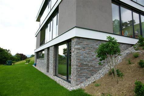 Hausfassade Farblich Absetzen by Fassade Gestalten Die Auenwnde Und Decken Dieses Neubaus
