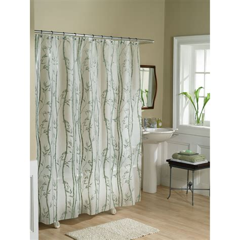 vinyl shower curtain essential home shower curtain bamboo vinyl peva home