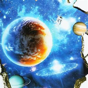3D Planet Outer Space Wall Stickers Home Decor Mural Art ...