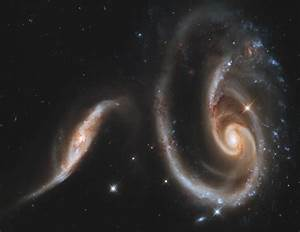 This is what two colliding galaxies look like