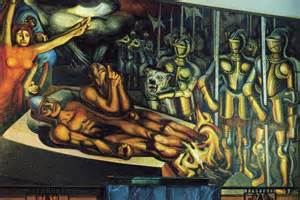 the torment of cuauhtemoc 1950 david alfaro siqueiros