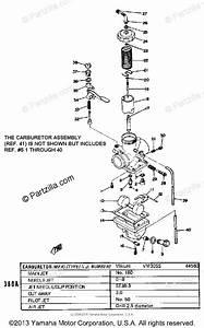 Yamaha Motorcycle 1974 Oem Parts Diagram For Carburetor