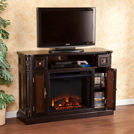 walmart fireplace tv stand wildon home gibbs 48 tv stand with electric fireplace