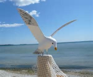 nautical size painted seagull coastal bird lawn ornament decor ebay