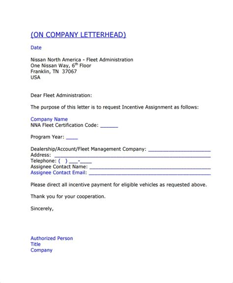 sample assignment letter   documents