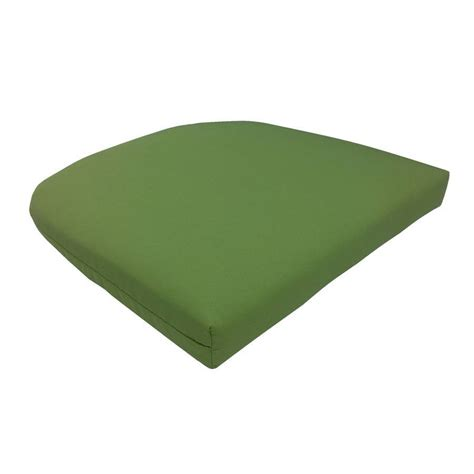 shop garden treasures green patio chair cushion at lowes